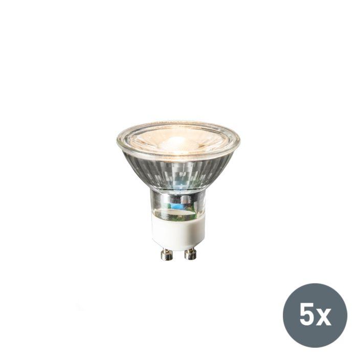 Zestaw-5-lamp-LED-GU10-COB-3W-230lm-2700K
