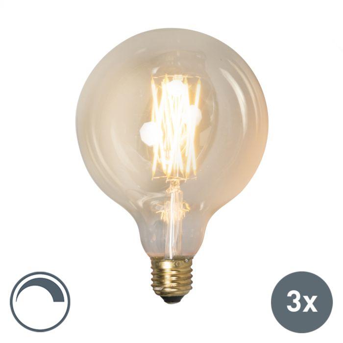Zestaw-3-x-żarówka-LED-E27-G125-goldline-320lm-2100-K