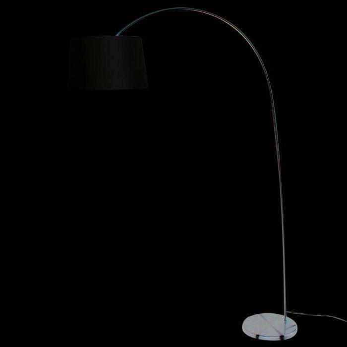 Lampa-podłogowa-łuk-Easy-stal---biały-klosz