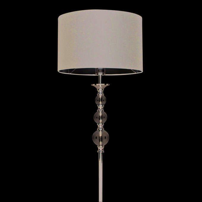 Lampa-podłogowa-Calabash-chrom-czarny-klosz