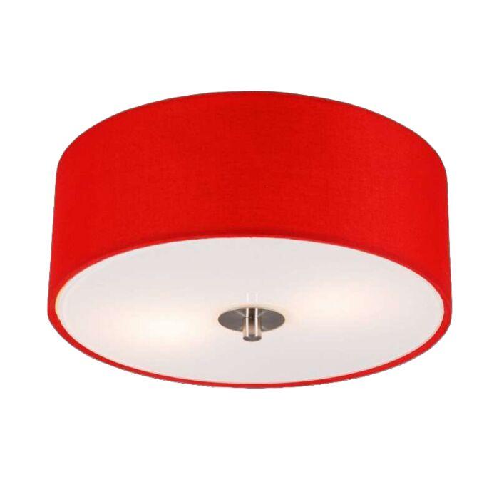 Nowoczesna-lampa-sufitowa-czerwona-30-cm---Bęben