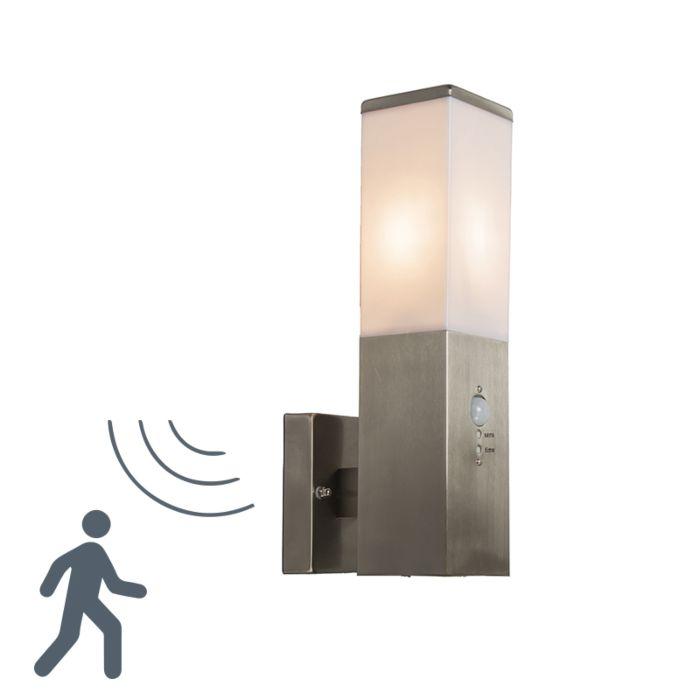 Zewnętrzna-lampa-ścienna-Malios-stal-z-czujnikiem-ruchu-na-podczerwień