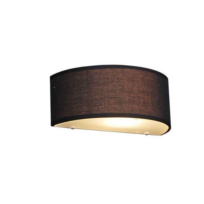Lampa-ścienna-Country-półokrągła-czarna---Bęben