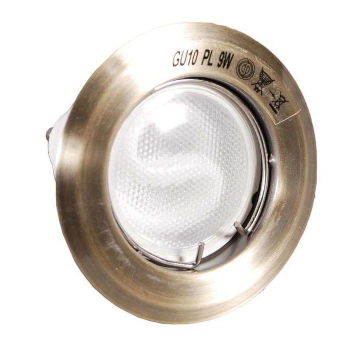Oprawa-do-wbudowania-Burn-brąz-z-świetlówką-energooszczędną