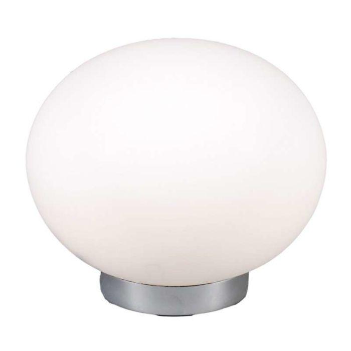 Lampa-stołowa-Ball-24-stal-białe-szkło