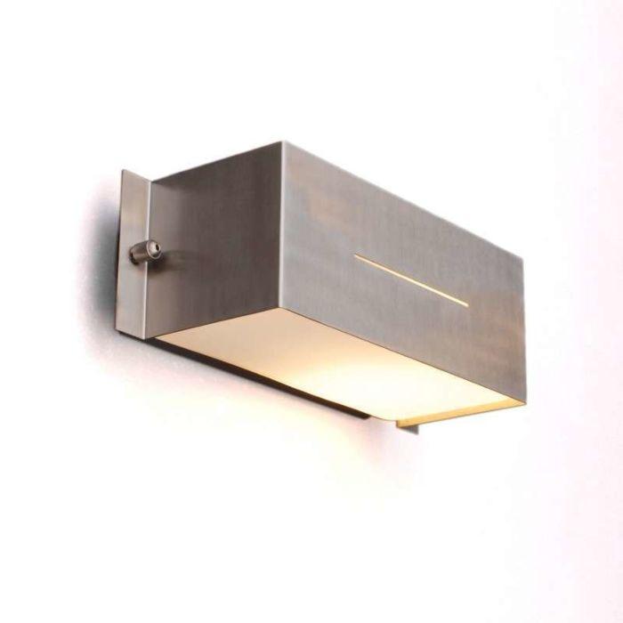 Lampa-zewnętrzna-Celine-Square-ścienna-stal-nierdzewna