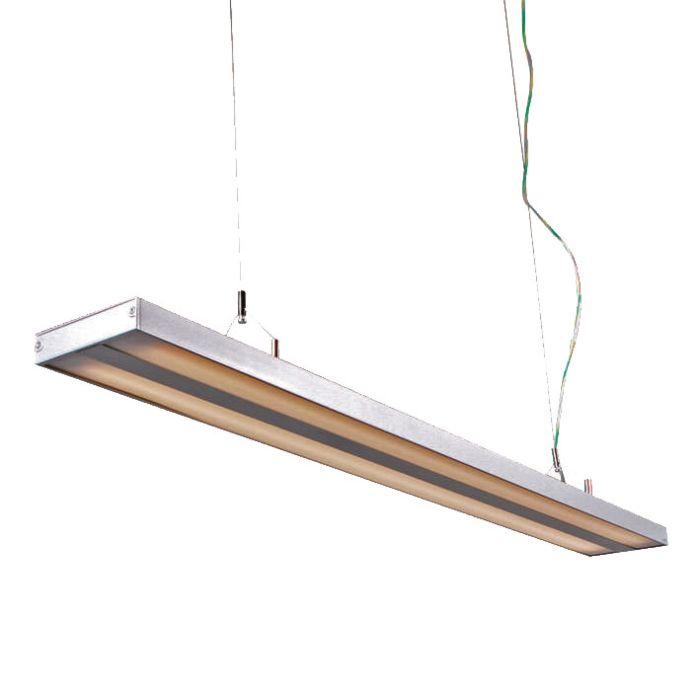 Lampa-wisząca-Tube-S-srebrna-2-x-28W