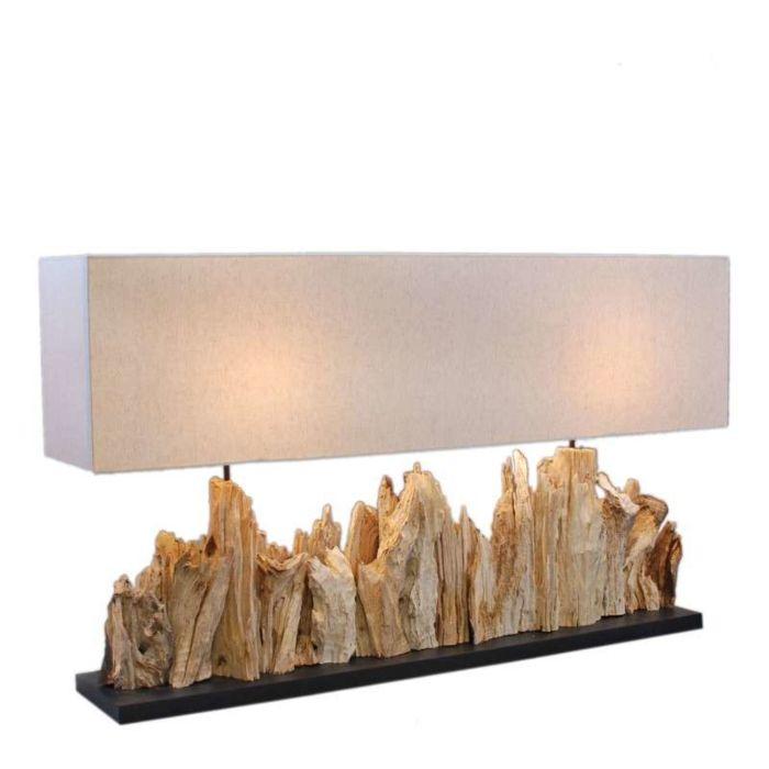 Lampa-stołowa-Thak-Extra-Grande-(115cm!!)-z-lnianym-kloszem