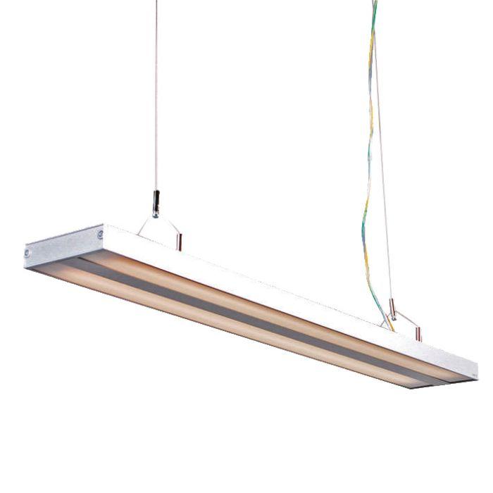 Lampa-wisząca-Tube-S-srebrna-2-x-21W
