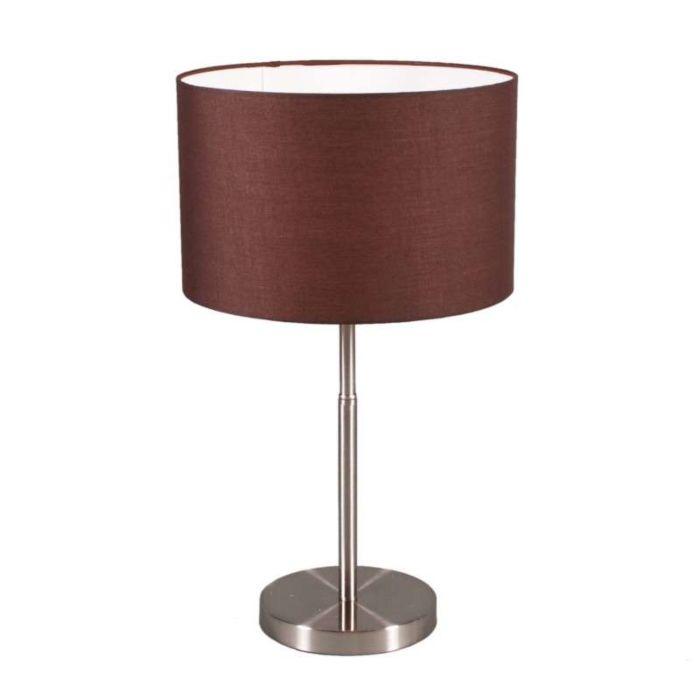 Lampa-stołowa-Drum-stal-brązowy-klosz