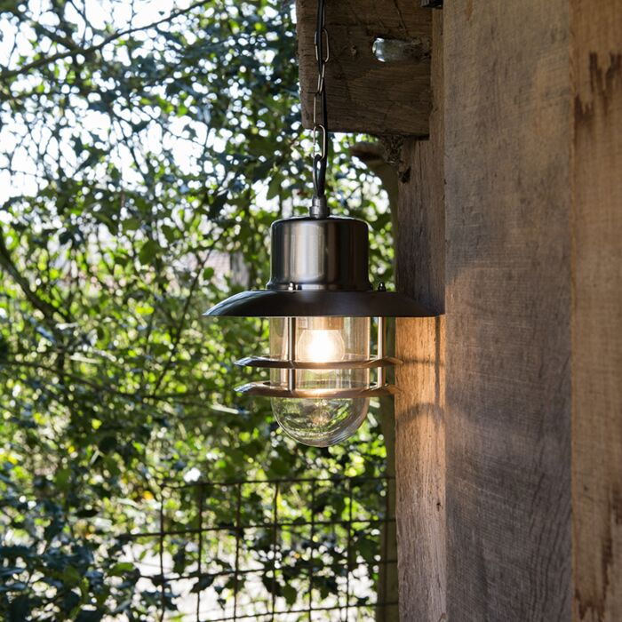 Stalowa-lampa-wisząca-retro---Shell