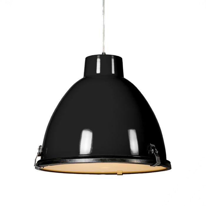 Przemysłowa-lampa-wisząca-czarna-38-cm-ściemnialna---Anteros