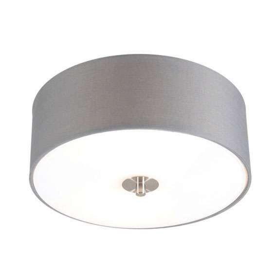 Wiejska-lampa-sufitowa-szara-30-cm---Bęben