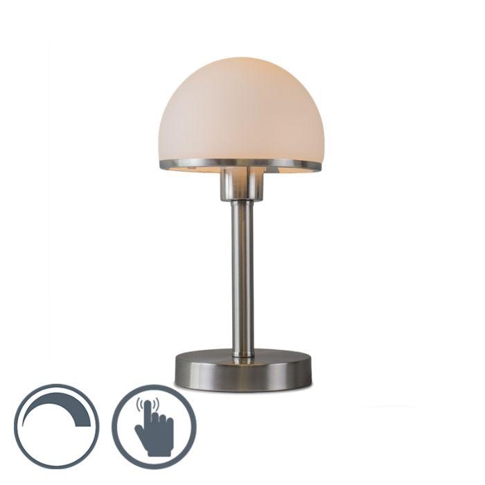 Lampa stołowa Bauhaus stal, dotykowa