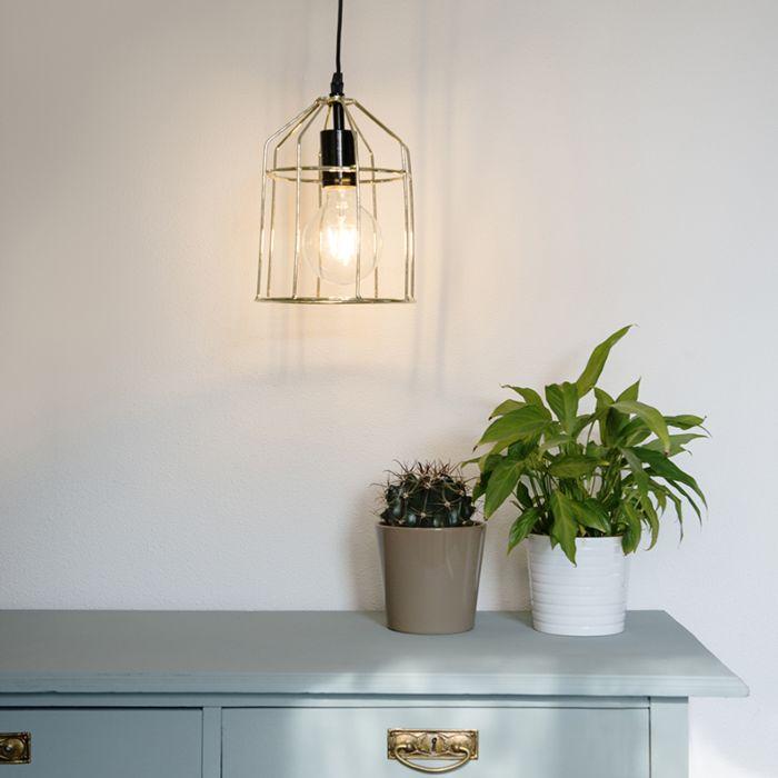 Lampa-wisząca-Frame-B-złota