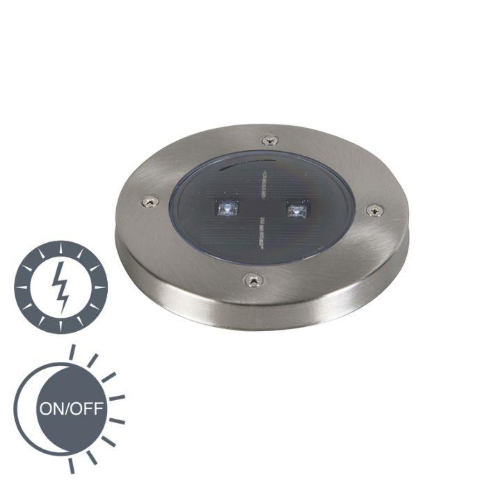 Nowoczesny-zewnętrzny-spot-solarny-z-okrągłym-LED---Erda