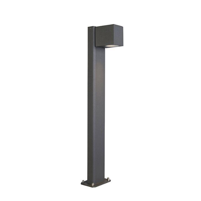 Nowoczesna-zewnętrzna-lampa-stojąca-ciemnoszara-65-cm-IP44---Baleno
