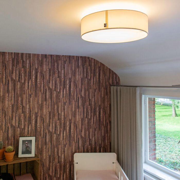 Lampa-sufitowa-biała-40-cm-z-diodami-LED---Drum-LED