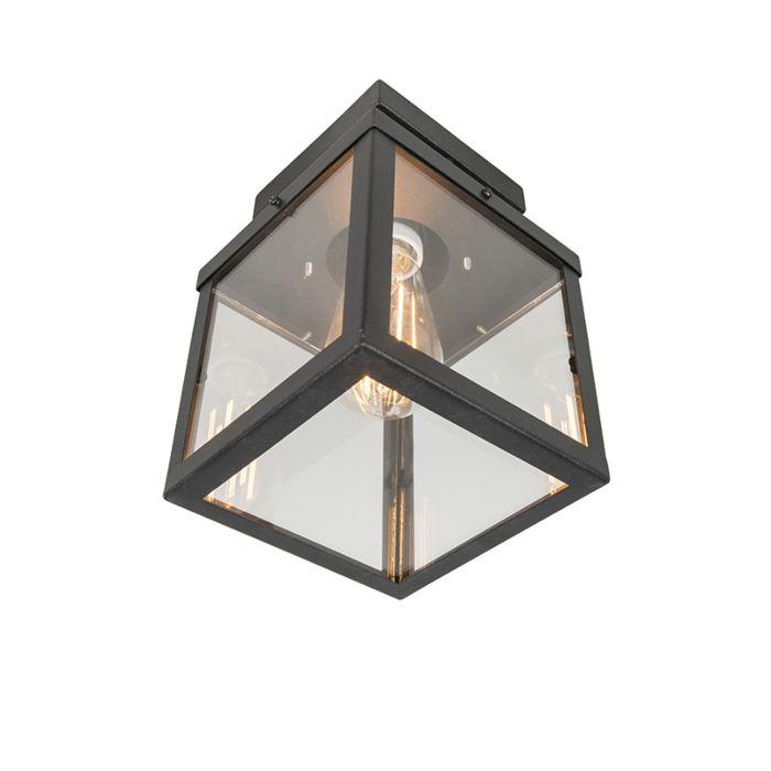 Przemysłowa-zewnętrzna-lampa-sufitowa-Czarny-1-punktowy---Rotterdam