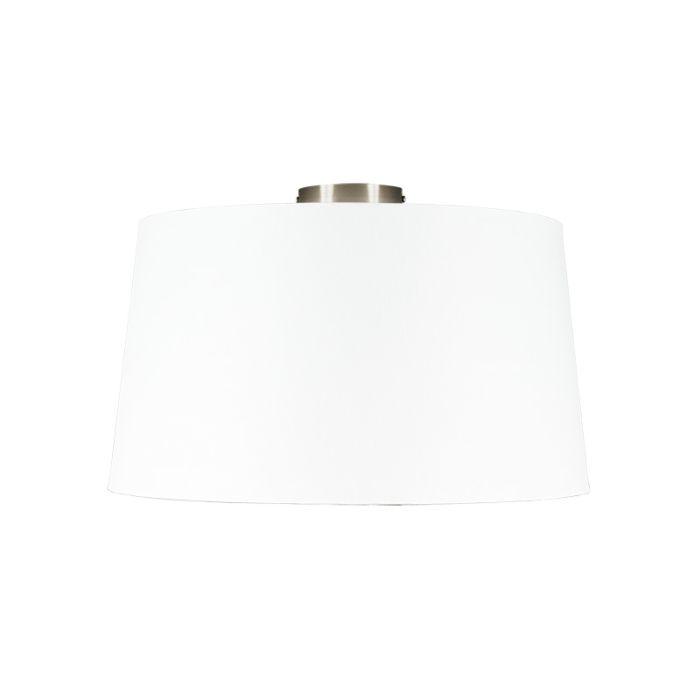 Nowoczesna-lampa-sufitowa-stal-z-białym-kloszem-45-cm---Combi