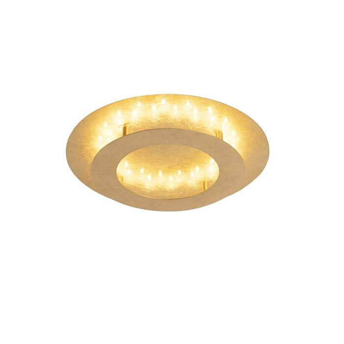 Lampa-sufitowa-w-stylu-art-deco-złota-/-mosiądz-40-cm-w-tym-LED---Belle