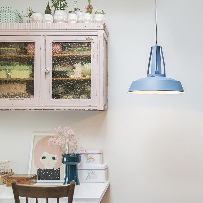 Lampa-wisząca-vintage-niebieska-43-cm---Living