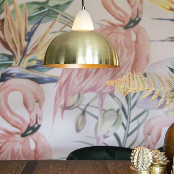 Nowoczesna-lampa-wisząca-mosiądz-i-marmur---Albasta-Bowl