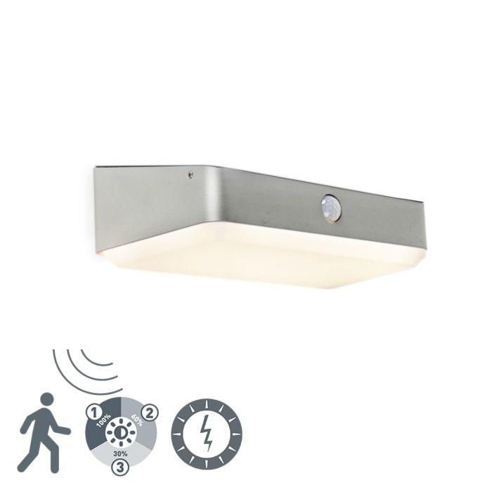 Zewnętrzna-lampa-ścienna-z-diodą-LED-na-kolektorze-słonecznym-z-czujnikiem-ruchu---Blox