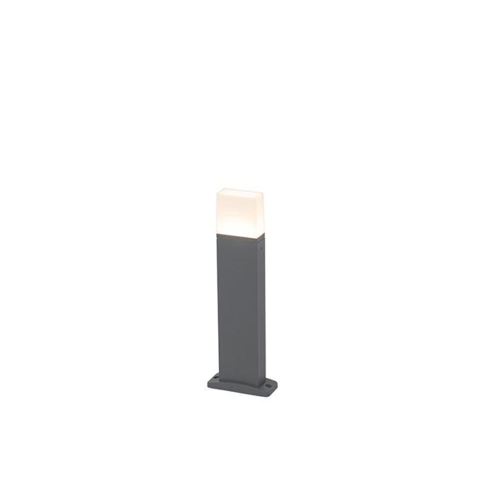 Nowoczesna-lampa-zewnętrzna-ciemnoszara-zawiera-LED-45cm---Malia