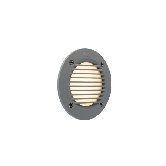 Nowoczesny-okrągły-zewnętrzny-reflektor-ścienny-szary-w-tym-LED-IP65---Leti