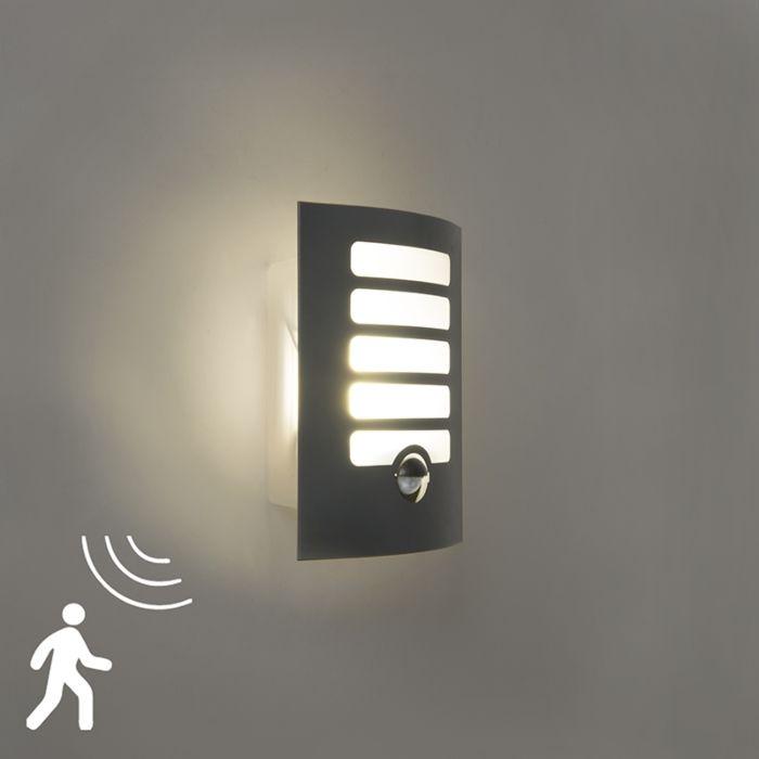 Kinkiet-zewnętrzny-antracytowy-wraz-z-diodą-LED-z-czujnikiem-ruchu---siatka