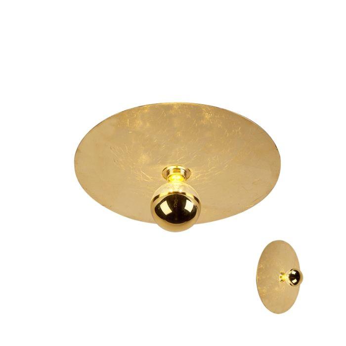 Nowoczesna-lampa-sufitowa-złota-40-cm---Disque