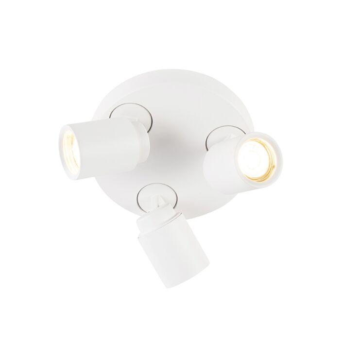 Nowoczesny-okrągły-ruchomy-spot-3-źródła-światła-biały---Keeper