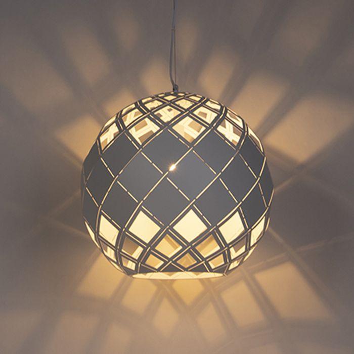 Art-Deco-lampa-wisząca-biała---Tourmaline