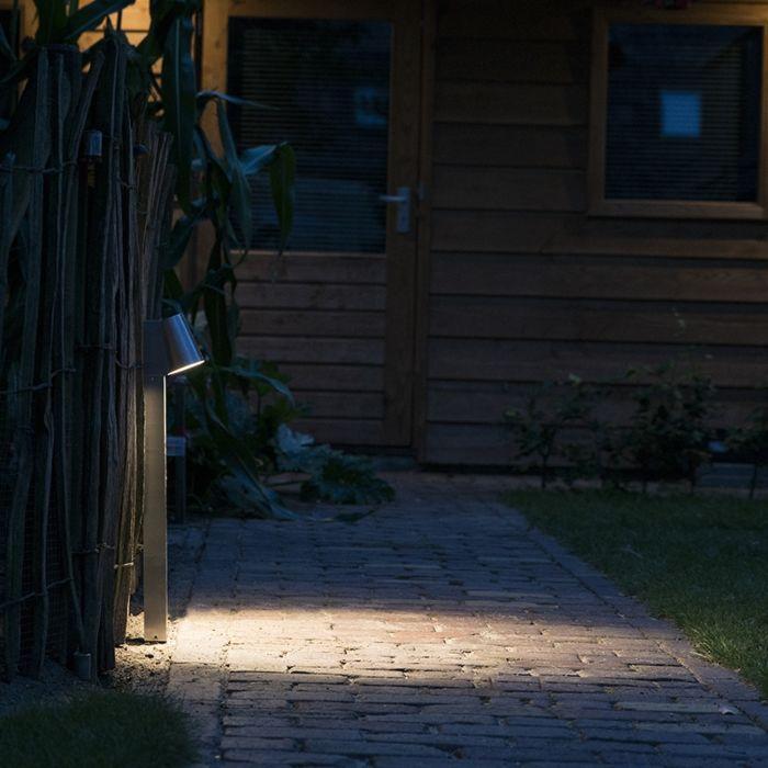 Nowoczesna-stojąca-lampa-zewnętrzna-aluminium-62cm-zawiera-LED---Uma