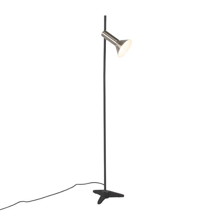 Nowoczesna-lampa-podłogowa-stal-1-źródło-światła---Speaker
