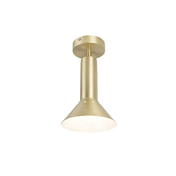 Nowoczesny-plafon-mosiądz-1-źródło-światła---Speaker