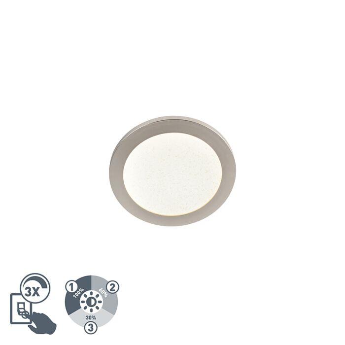 Nowoczesny-okrągły-plafon-LED-22,5cm-IP44-stal---Steve