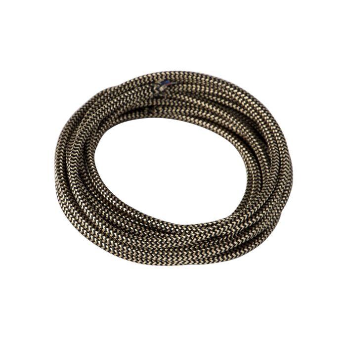 Kabel-w-otulinie-materiałowej-1-metr-czarno-złoty