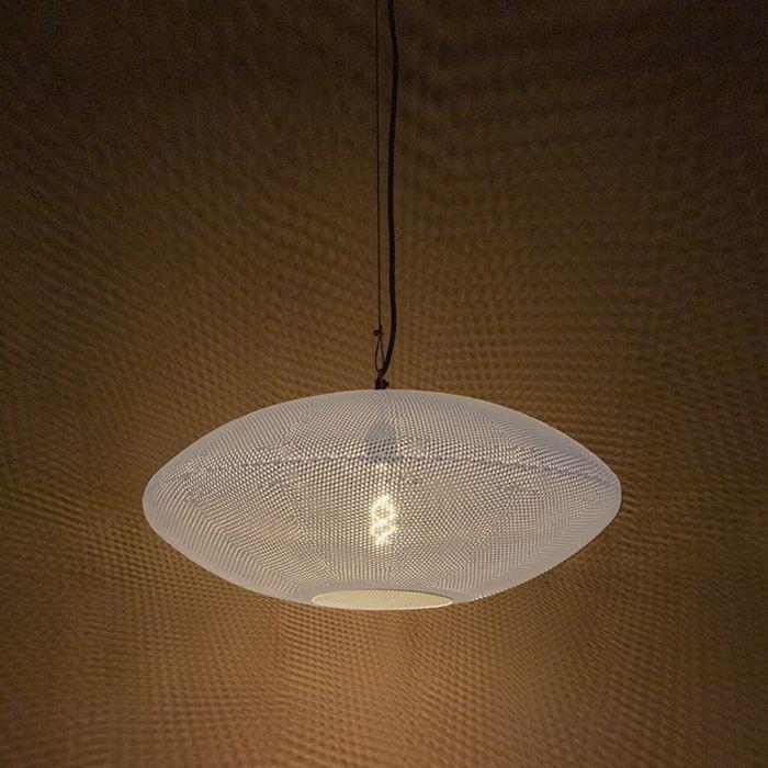Orientalna-lampa-wisząca-60cm-biały-i-miedź---Radiance