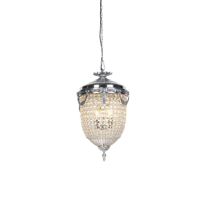 Art-deco-lampa-wisząca-kryształ-40-srebro---Cesar