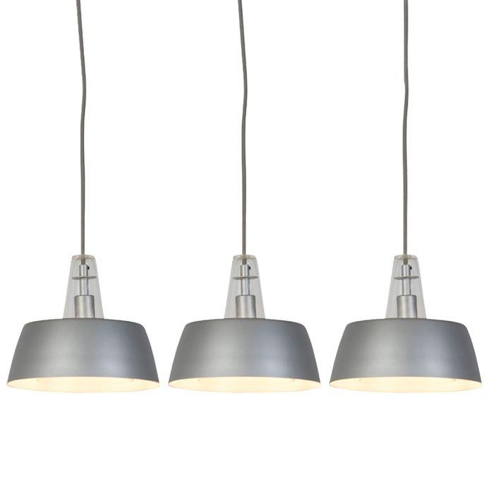 Zestaw-3-nowoczesnych-lamp-wiszących-szary---Manu