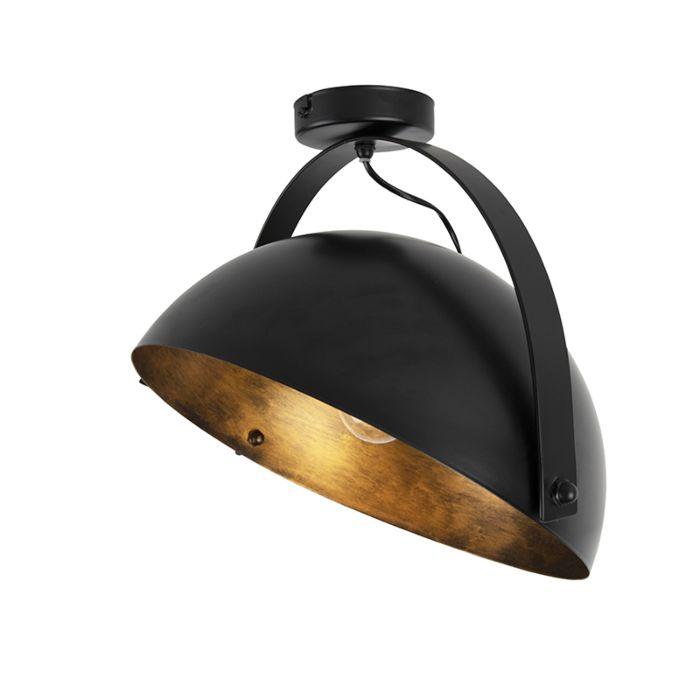 Nowoczesny-okrągły-plafon-ruchomy-czarny-ze-złotym---Magna