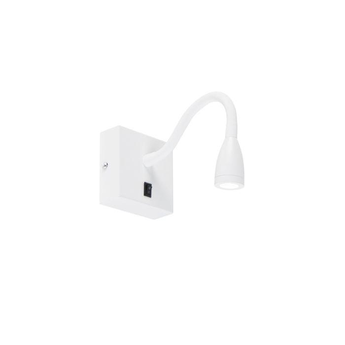 Nowoczesna-elastyczna-lampa-ścienna-biała-LED---Flex