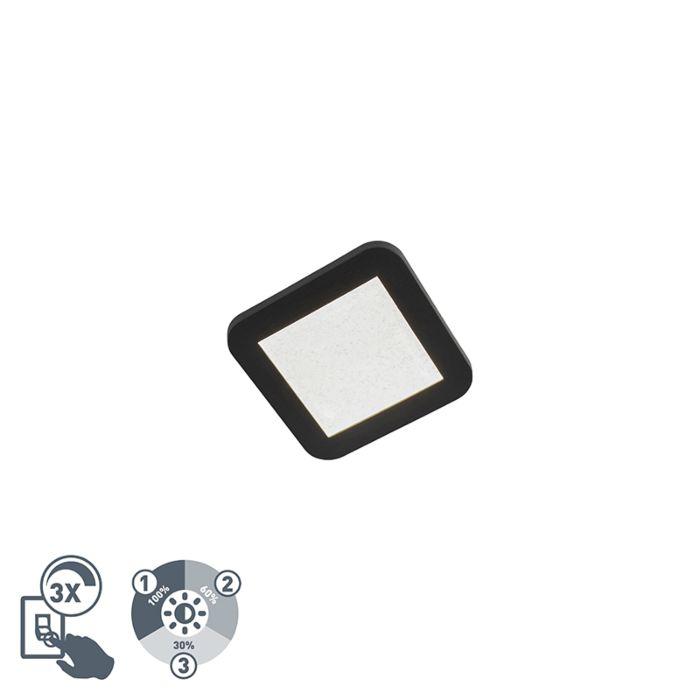 Nowoczesny-kwadratowy-plafon-LED-17cm-IP44-czarny---Steve