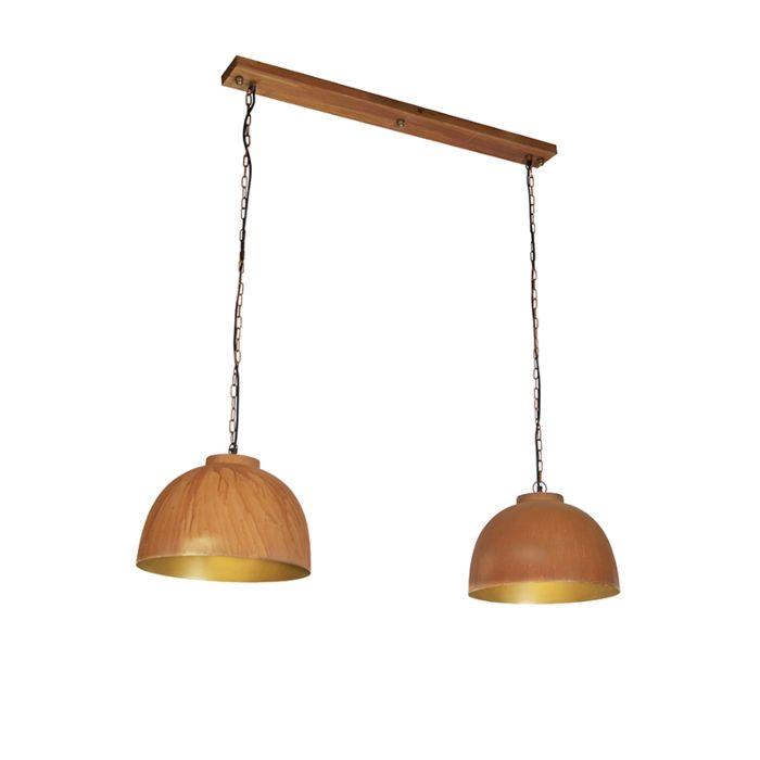 Przemysłowa-lampa-wisząca-rdza-2-źródła-światła---Hoodi