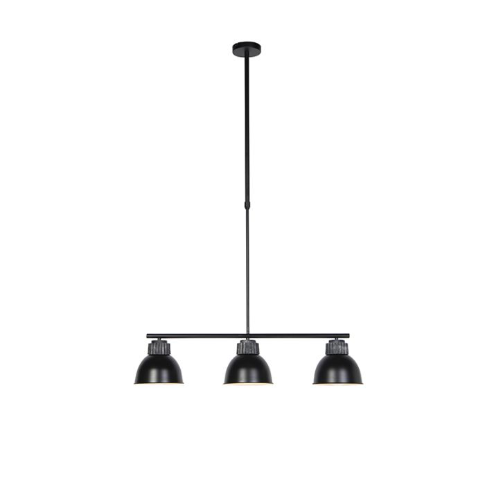 Industrialna-lampa-wisząca-czarna-i-srebrna-3-źródła-światła---Frodo