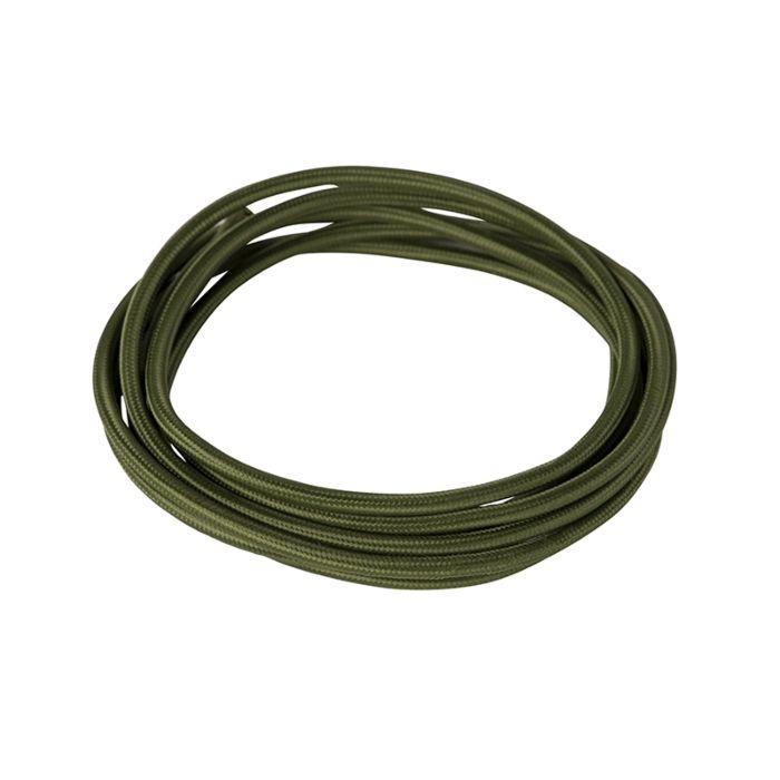 Kabel-w-otulinie-materiałowej-1-metr-ciemnozielony