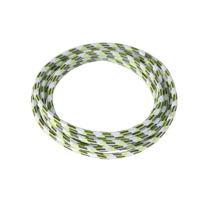 Kabel-w-otulinie-materiałowej-1-metr-biało-zielony