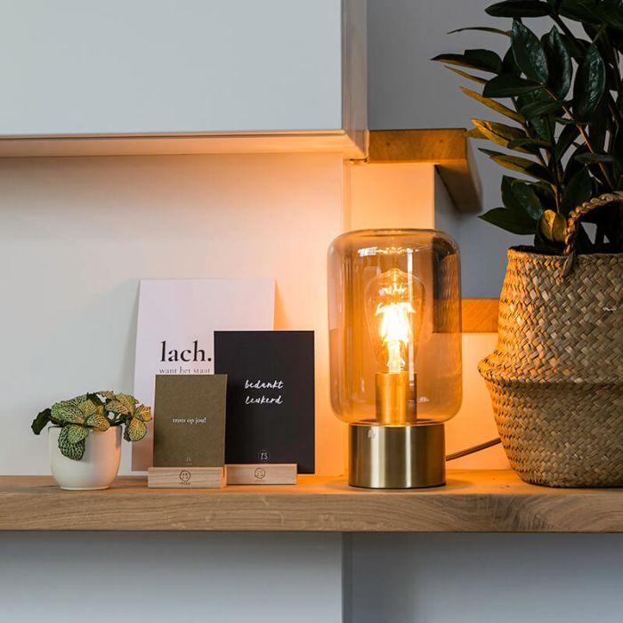 Designerska-lampa-stołowa-mosiądz-przydymione-szkło---Bliss-Cute